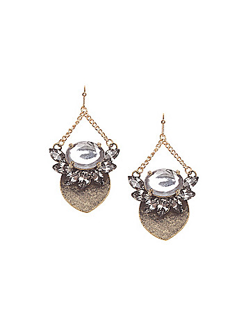 Petal drop earrings by Lane Bryant