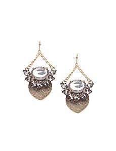 Petal drop earrings by Lane Bryant