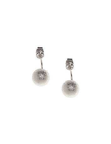 Stone & ball front to back earrings by Lane Bryant