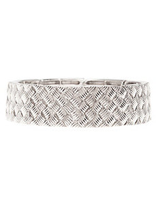 Basket weave stretch bracelet by Lane Bryant