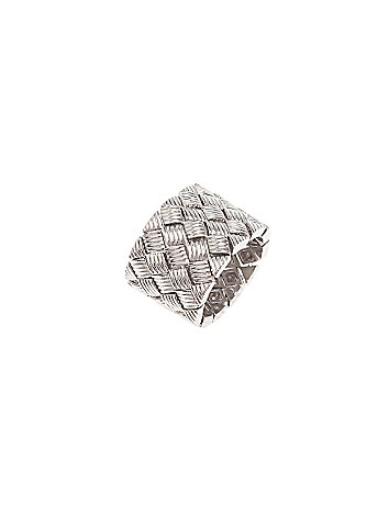 Basket weave stretch ring