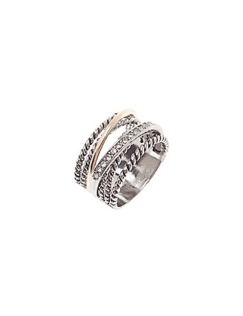 Mixed texture ring by Lane Bryant
