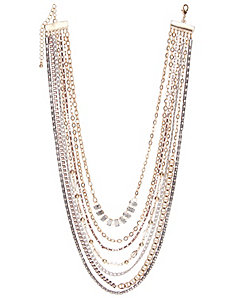 Mixed chain necklace by Lane Bryant