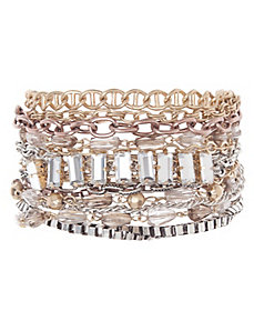 Beaded multi chain bracelet by Lane Bryant