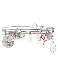 Awareness pink charm bracelet trio by Lane Bryant