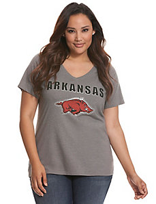University of Arkansas embellished tee