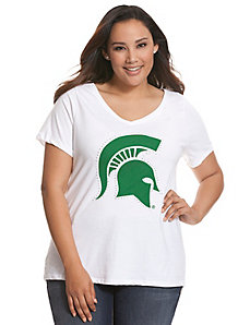 Michigan State University embellished tee