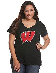University of Wisconsin embellished tee