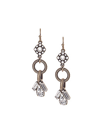 Stone & link drop earrings by Lane Bryant
