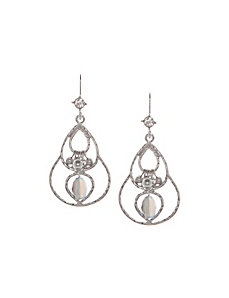 Beaded teardrop earrings by Lane Bryant
