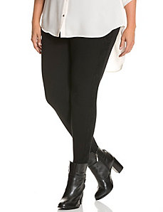 Control Tech ponte skinny with lace