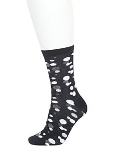 Scattered dots crew socks 2-pack