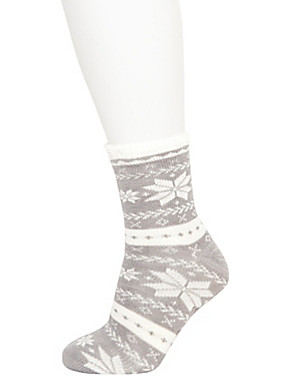 White Cozy Socks Fair Isle Cozy Socks | Lane