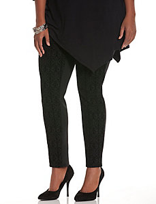 Control Tech flocked ponte skinny pant