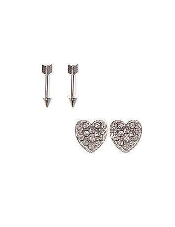 Heart & arrow earring duo by Lane Bryant
