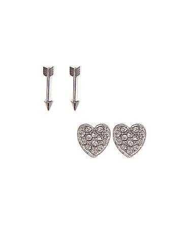 Heart & arrow earring duo by Lane Bryant