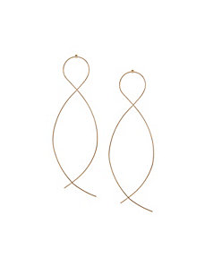 Intertwined wire earrings by Lane Bryant