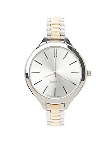 Two tone round watch
