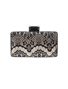 Lace minaudiere clutch handbag