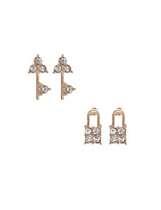 Lock & key earrings duo by Lane Bryant