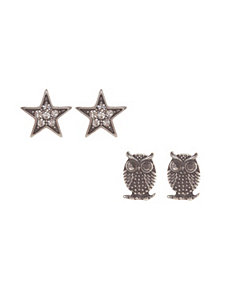 Owl & star earring duo by Lane Bryant