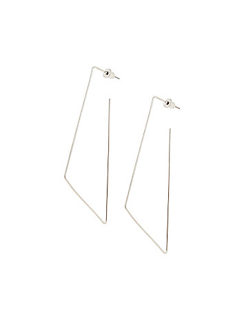 Diamond shaped wire earrings by Lane Bryant