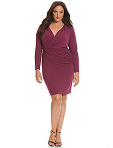 6th & Lane cross-over sheath dress