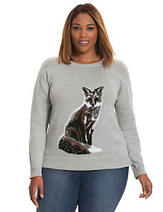 Fox intarsia sweater