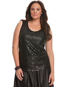 6th & Lane sequined drape-back tank