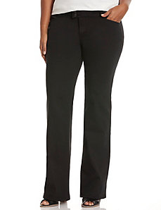 Straight fit black trouser jean