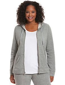 Sparkle hooded jacket
