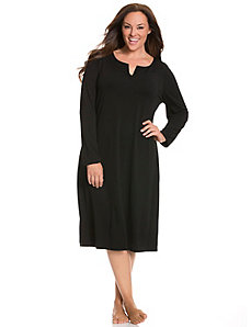 Long sleeve modal sleep maxi