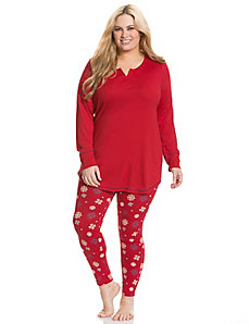 Snowflake legging PJ set