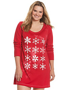 Snowflake sleep shirt