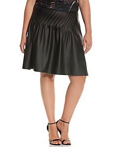 6th & Lane diagonal pleat skirt