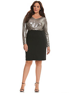 6th and Lane foiled party dress