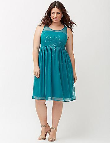 Plus size Sequin party dress