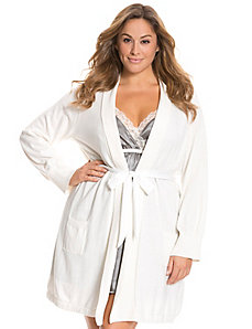 Tru to You sweater robe with satin belt
