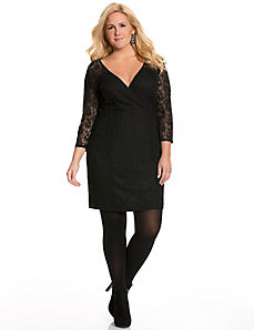 Surplice lace dress