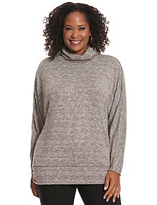 Metallic turtleneck tunic