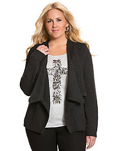 Asymmetric cardigan sweater