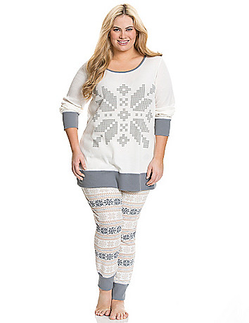 Snowflake thermal PJ set