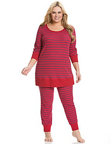 Metallic stripe thermal PJ set