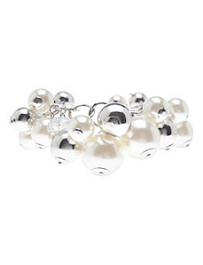 Faux pearl cluster bracelet