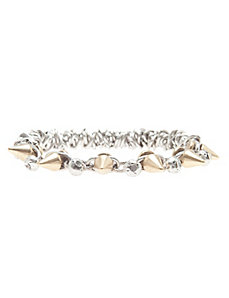 Spiked chain stretch bracelet by Lane Bryant