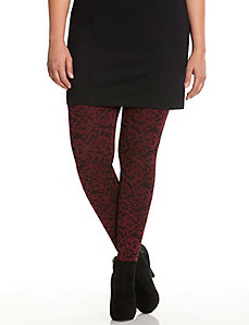 Jacquard scroll leggings