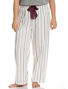 Striped flannel sleep pant