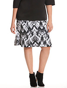 6th & Lane printed flippy skirt
