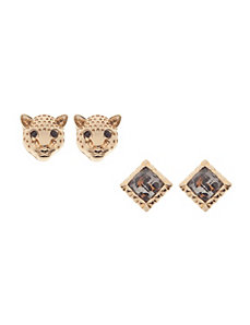 Cheetah & animal print earring duo