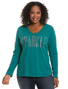 Sparkle hooded tee